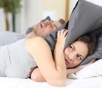 Man snore while sleeping